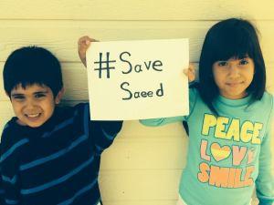 children save saeed sign