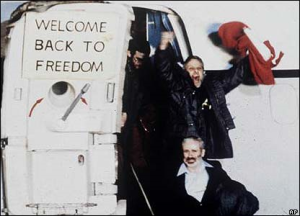 jubilant hostages come home