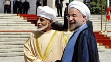 omani sheik and rouhani shake hands aug 25 13