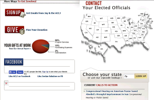 ACLJ contact your elected official map screengrab