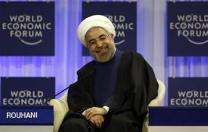 Rouhani WEF big smiles 1 23 14