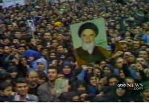 1979 Iran protests crowd