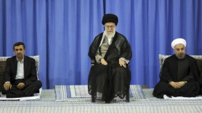 Iran leaders sit below Supreme 1_Horo-2-e1375552179584-635x357
