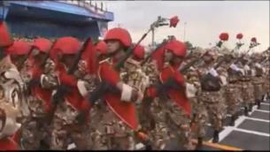 Iran Red Guard on parade Screen-shot