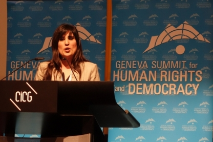 naghmeh-abedini at Geneva summit 2 25 14