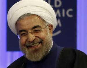 Rouhani biggest smile