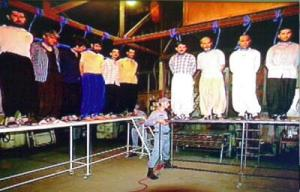 iran multi hanging on tables