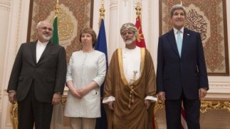 Kerry zarif ashton n Omani host 11 2014
