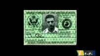 The armed forces identification card of Iranian-American Amir Mirza Hekmati, who has been sentenced to death by Iran's Revolutionary Court on the charge of spying for the CIA,  is seen in this undated still image taken from video