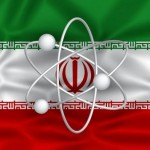 iran flag w nuke symbol